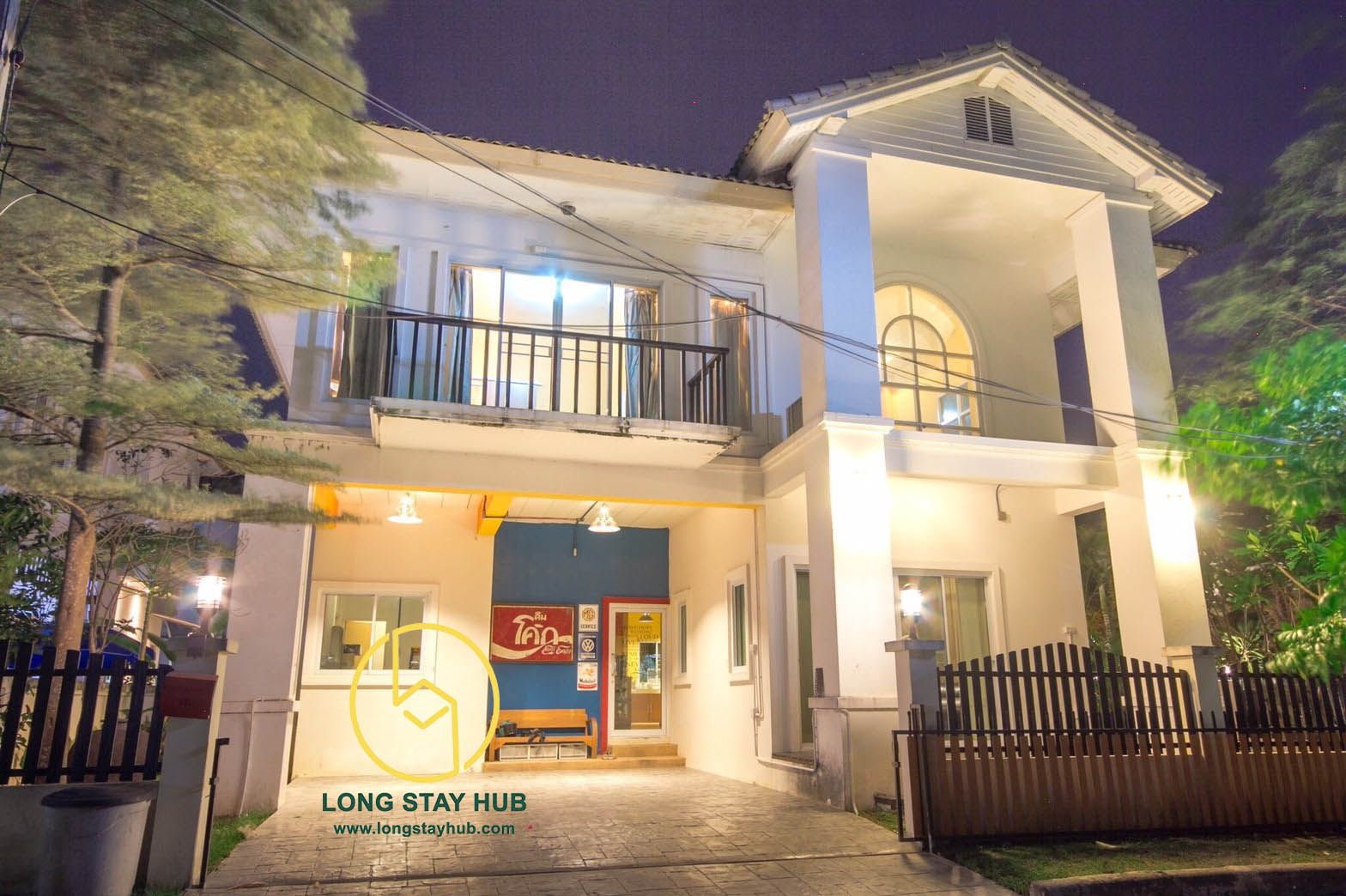 Partially furnished two-storey house at Chayayon gated compound