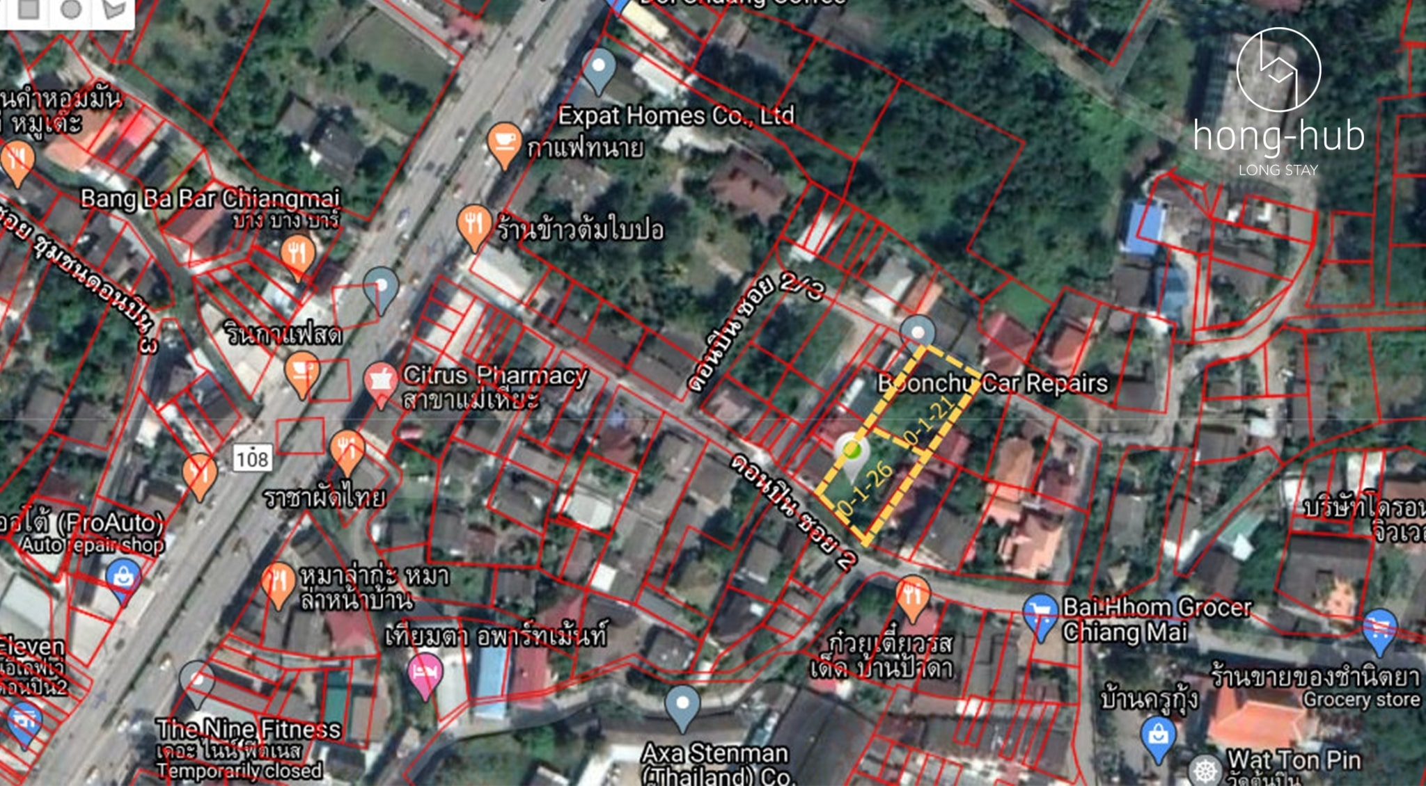Land for sale in the Chiang Mai city