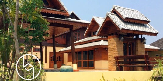 Fully Furnished Lanna style House for rent near Royal Park Rajapruek