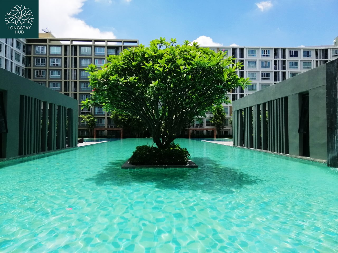 Very nicely studio condominium with great garden views unit at D condo sign near Central festival Chiang Mai