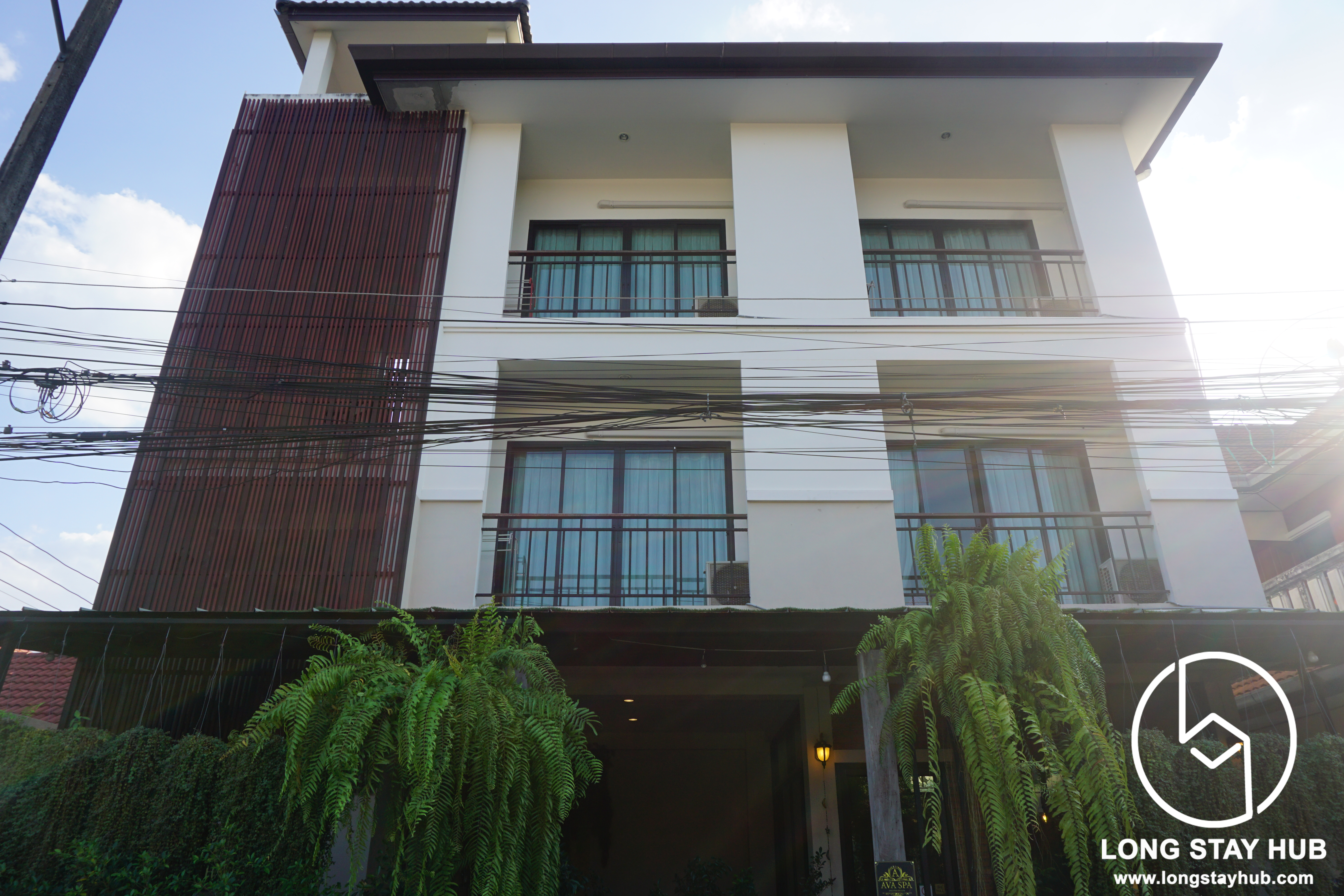 3 storey  apartment building, Partial Furnished, ready to operate Chiangmai