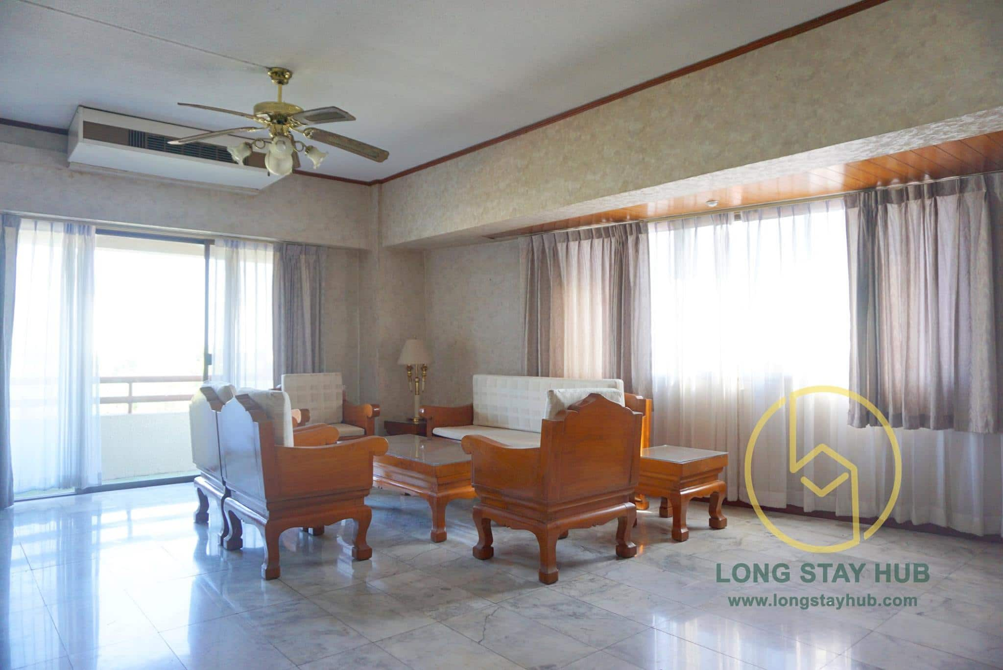 Bright and spacious, 2 bedrooms condo at Doi Ping Mansion for sale.