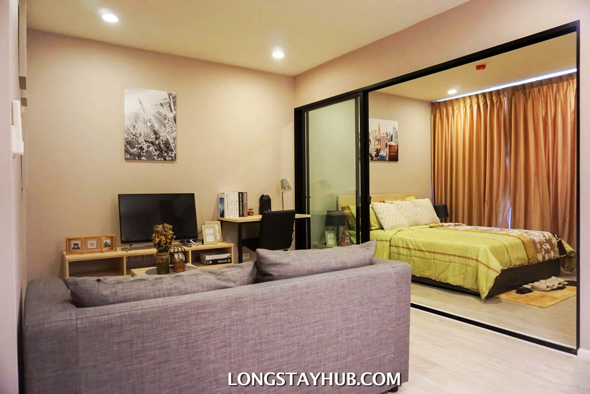 Studio bedroom at Palm Springs Fountain near Nimman rd for rent